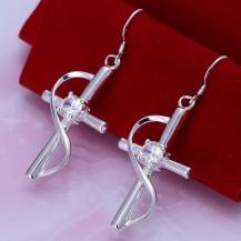 Серьги Крестики Tiffany (TF125). Покрытие серебром 925