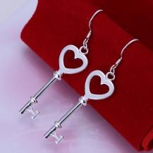 Серьги Ключики Tiffany (TF131). Покрытие серебром 925