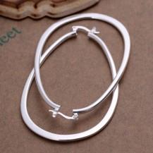 Серьги крупные кольца Tiffany (TF135). Покрытие серебром 925