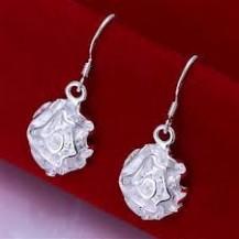 Серьги Tiffany Цветок (TF137). Покрытие серебром 925