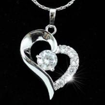 Кулон CZ Heart Bridesmaid / Fashion Pendant w/ Necklace SN140