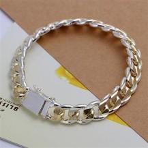 Браслет мужской / женский Tiffany (TF-H091). Покрытие серебром 925
