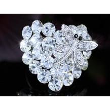 Кольцо Heart Dragonfly Ring use Swarovski Crystal SR121