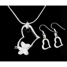 Набор Tiffany Style 3. Серьги, кулон, цепочка