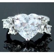 Кольцо 4 Carat Heart Ring use Swarovski Crystal SR086