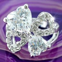 Кольцо 7 Carats Heart Ring use Swarovski Crystal SR082
