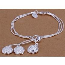 Браслет Tiffany (TF-H291). Покрытие серебром 925