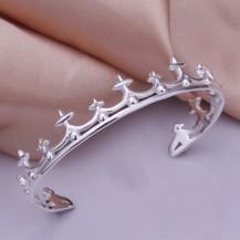 Браслет корона Tiffany (TF-b177). Покрытие серебром 925