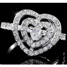 Кольцо Heart Ring use Swarovski Crystal SR099