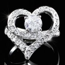 Кольцо Heart Ring use Swarovski Crystal SR101