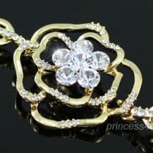 Браслет 3D Rose Gold Plated Bracelet use Swarovski Crystal SB028