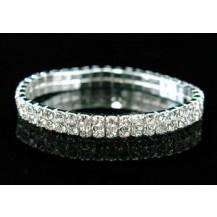 Браслет 2 Row Wedding Fashion Crystal Rhinestone Bracelet SSB902