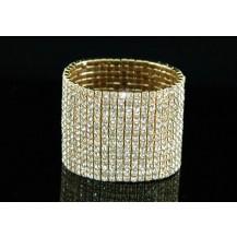 Браслет 15 Row Drag Queen Crystal Gold Bangle Bracelet SSB915G