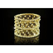 Браслет Bridal Wedding Stretch Crystal Gold Bangle Bracelet SSB006