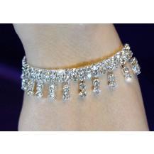 Браслет Bridal Wedding Crystal Dangling Silver Bracelet SSB003