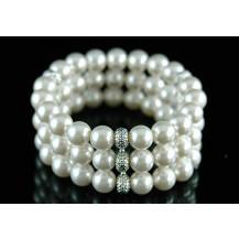 Браслет Bridal Wedding 3 Rows White Shell Pearl Bracelet SSB036