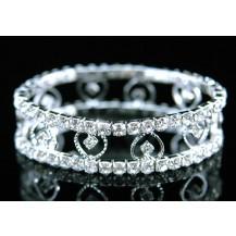 Браслет Bridal Wedding Fashion Heart Crystal Bracelet SSB015