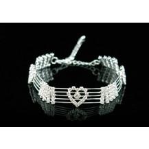 Браслет Hearts Bridal Clear Crystal Rhinestone Bracelet SSB007