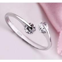 Кольцо Tiffany покрытие серебром 925 (TF-T008) Все размеры