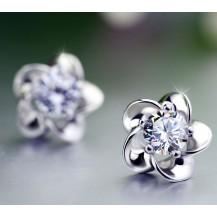 Серьги Tiffany Цветок покрытие серебром 925 (TF-E015)