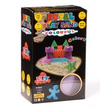 Цветной Кинетический песок пластилин Royal Play Sand с пасочками