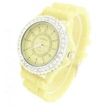 Часы женские GENEVA Luxury Светло-Лимонные