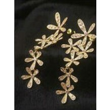 Серьги золотистые цветы tb1002