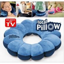 Подушка-трансформер Тотал Пиллоу (Total Pillow) синяя