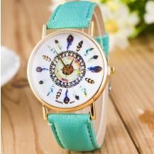 Часы наручные женские GENEVA женева Перо Мята