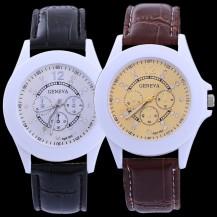 Часы Женева geneva Casual коричневые