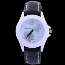 Часы Женева geneva Бабочки черный ремешок