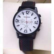 Мужские часы с силиконовым браслетом белые