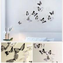 Интерьерная наклейка на стену бабочки 3д 3D (набор H-Z-101)