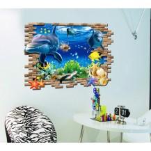 3D Интерьерная наклейка на стену Океан (AY9706)