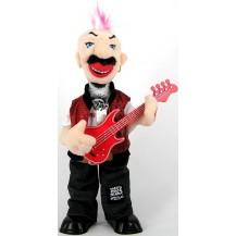 Панк - рокер с гитарой