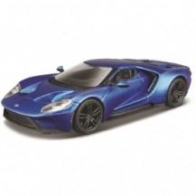 Автомодель - FORD GT (голубой металлик, серебристый металлик, 1:32) от Bburago - под заказ