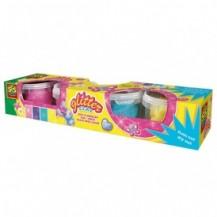 Незасыхающая масса для лепки  - СВЕРКАНИЕ (4 цвета, в пластиковых баночках) от Ses - под заказ