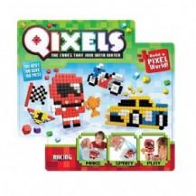 Игровой набор аквамозаики из пикселей - ГОНКИ (500 фишек, спрей, шаблоны, аксессуары) от Qixels - под заказ