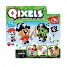 Игровой набор аквамозаики из пикселей - ПИРАТЫ (500 фишек, спрей, шаблоны, аксессуары) от Qixels - под заказ