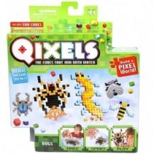 Игровой набор аквамозаики из пикселей - ЖУКИ (500 фишек, спрей, шаблоны, аксессуары) от Qixels - под заказ