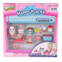 Игровой набор с куклой HAPPY PLACES S1 – СПАЛЬНЯ ДЖЕССИ КЕЙК (кукла, 13 петкинсов, 2 платформы) от Happy Places - под заказ