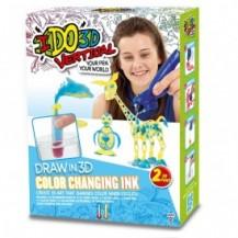 Набор для детского творчества с 3D-маркером - МЕНЯЮЩИЙ ЦВЕТ (3D-маркер-2 шт, аксессуары) от IDO3D - под заказ