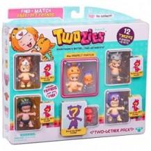 Набор фигурок TWOZIES S1 - 12 ЗАБАВНЫХ МАЛЫШЕЙ (6 малышей, 6 питомцев) от Twozies - под заказ