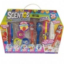Ароматный набор для творчества - ВЕСЕЛЫЕ ФРУКТЫ (ручки, маркеры, наклейки, масса для лепки) от Scentos - под заказ