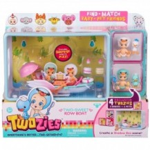 Игровой набор TWOZIES S1 - ПРОГУЛКА В ЛОДКЕ (с аксессуарами, 2 эксклюзивных малыша, 2 питомца) от Twozies - под заказ