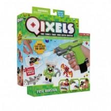 Игровой набор аквамозаики из пикселей - ВОДНЫЙ БЛАСТЕР (500 фишек, бластер, шаблоны, аксессуары) от Qixels - под заказ