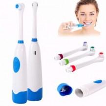 Зубная щетка электрическая на батарейках (сиреневая)