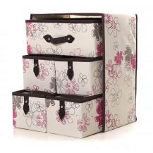 Органайзер для белья и одежды Комодик 5 ящиков Нежные цветы