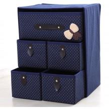Органайзер для белья и одежды Комодик 5 ящиков Синий