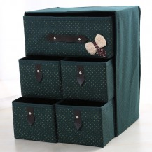 Органайзер для белья и одежды Комодик 5 ящиков Зеленый